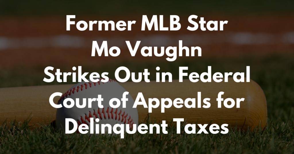 Mo Vaughn Delinquent Taxes