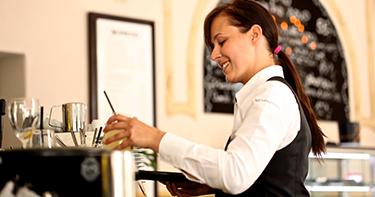 A cocktail waitress