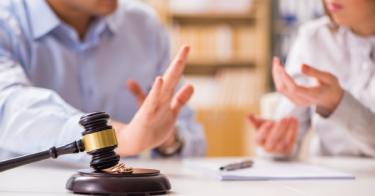 Couple in Divorce Court